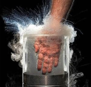 Quemadura nitrogeno liquido